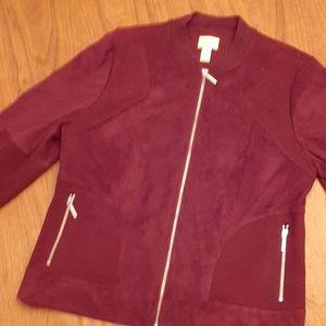 Smart Chico's jacket, Maroon